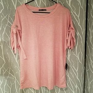 Femme by Tresics Crew Neck Pink Shirt